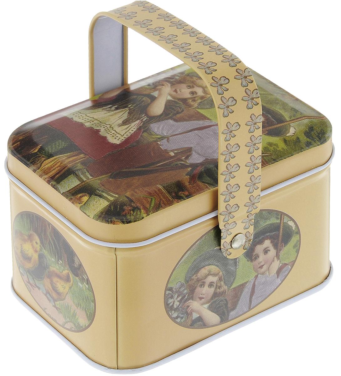 Коробка для хранения мелочей Hobby & Pro, 10,5 х 8 х 6,2 см. 7712762/941001VN-CB-MКоробка для хранения мелочей Hobby & Pro, выполненная из металла, станет практичным решением для хранения швейных принадлежностей. Внешняя поверхность оформлена красивым рисунком. Внутри - одно отделение. Такая оригинальная коробка подойдет для хранения разных предметов рукоделия: ниток, иголок, бусин, кнопок и многого другого. Для переноски имеется удобная ручка.Размер коробки (без учета ручки): 10,5 х 8 х 6,2 см.Высота коробки (с учетом ручки): 10 см.