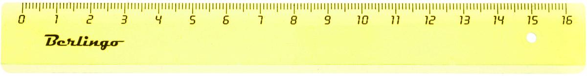 Berlingo Линейка цвет салатовый 16 смFS-36054Линейка Berlingo выполнена из полупрозрачного пластика салатового цвета. Длина линейки - 16 см.Линейка - это незаменимый атрибут, необходимый школьнику или студенту, упрощающий измерение и обеспечивающий ровность проводимых линий.