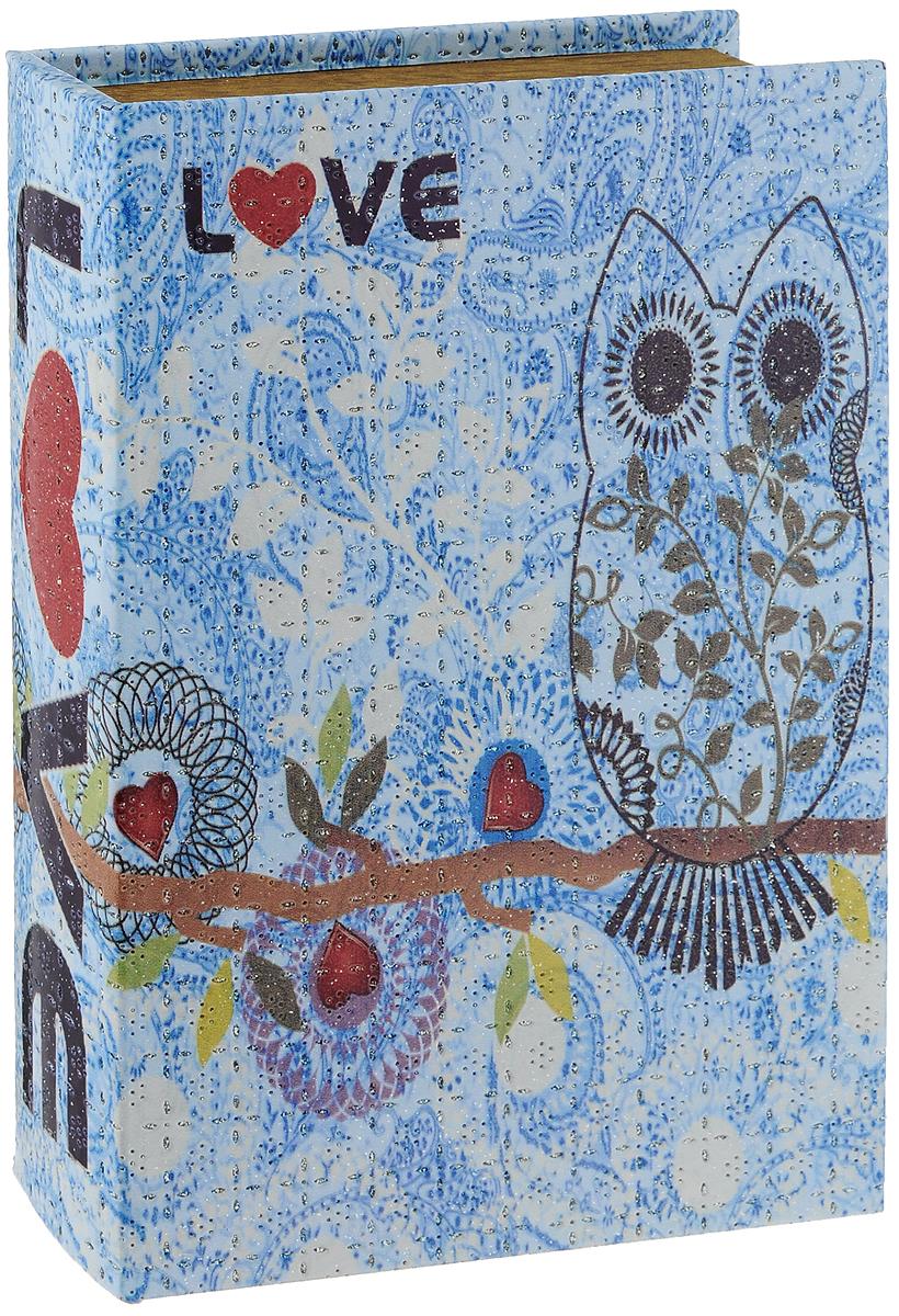 Шкатулка декоративная Bestex Love, 30,5 х 21 х 6 смRG-D31SШкатулка Bestex Love, выполненная в виде книги, не оставит равнодушной ни одну любительницу изысканных вещей. Шкатулка изготовлена из МДФ, обтянута искусственной кожей и декорирована блестками. Внутренняя поверхность шкатулки отделана тканью.Сочетание оригинального дизайна и функциональности сделает такую шкатулку практичным и стильным подарком, а также предметом гордости ее обладательницы.