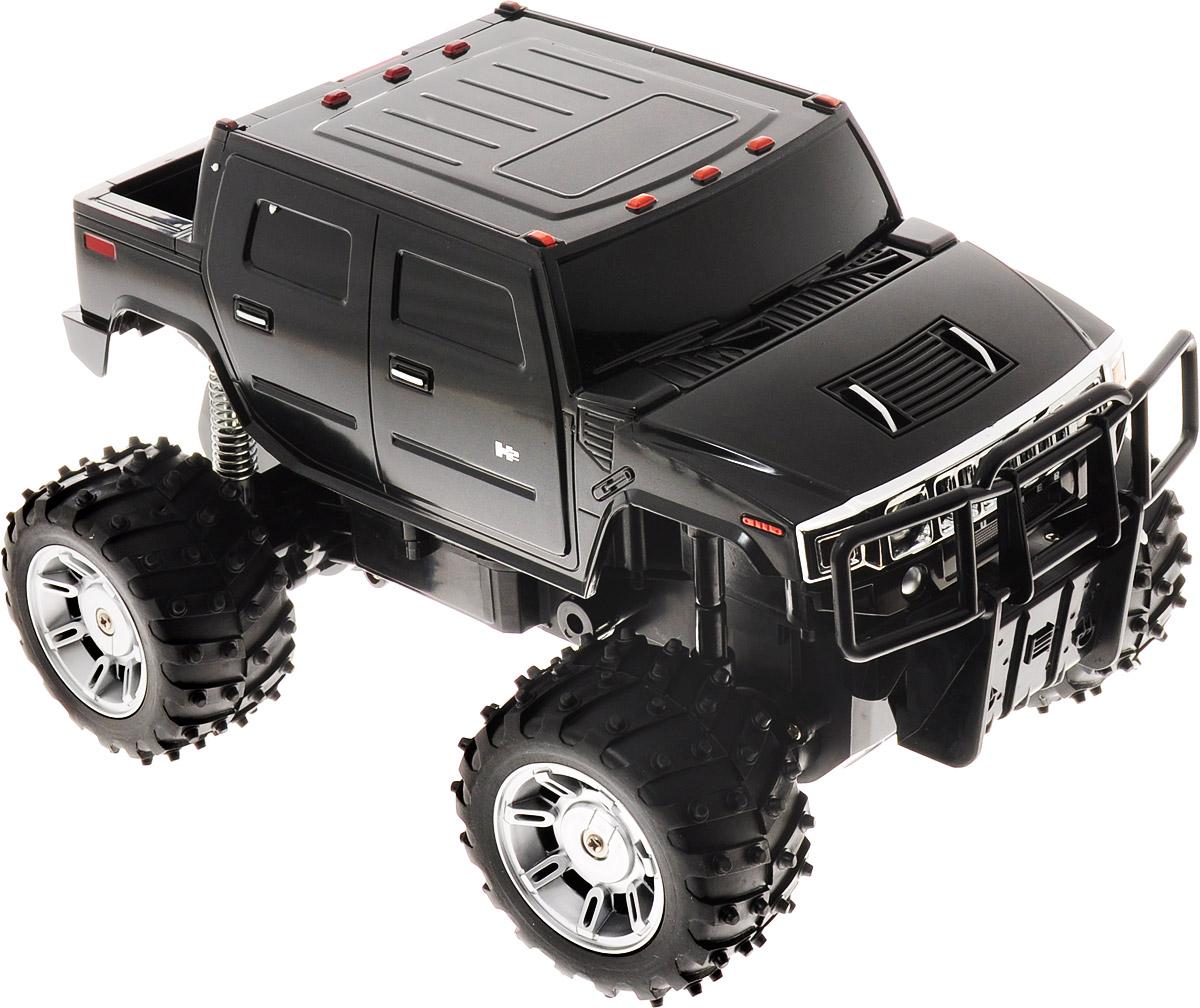 машины kidztech а м 1 26 hummer h2 Rastar Радиоуправляемая модель Hummer H2 цвет черный масштаб 1:14