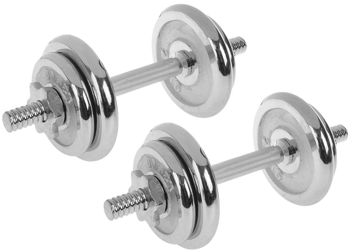 """Гантель сборная """"Andy"""", с 8 сменными блинами, общий вес 18 кг, 2 шт. W-022"""