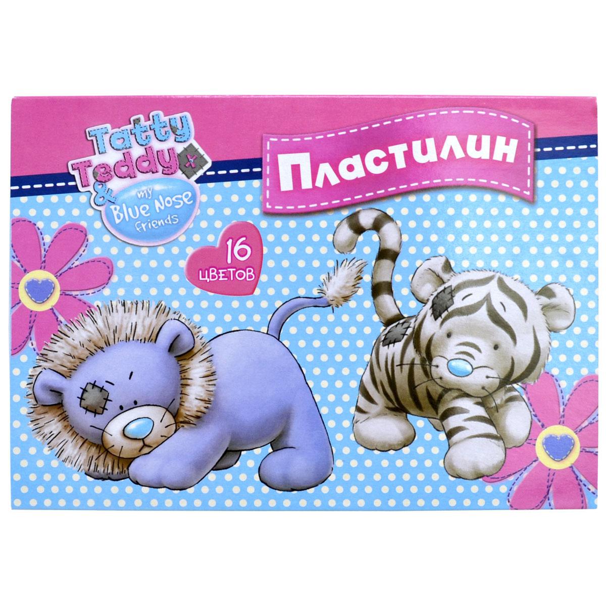 Action! Пластилин Tatty Teddy 16 цветов41767Набор пластилина Action! Tatty Teddy поможет вашему малышу создавать не только прекрасные поделки, но и рисунки. Пластилин обладает особой мягкостью и пластичностью: легко разминается и моделируется детскими пальчиками, не пачкается, не прилипает к рукам и рабочей поверхности, не крошится, не высыхает и хорошо держит форму.Смешивайте цвета, экспериментируйте и развивайте малютку: лепка активно тренирует у ребенка мелкую моторику и умение работать пальчиками, развивает тактильное восприятие формы, веса и фактуры, совершенствует воображение и пространственное мышление.
