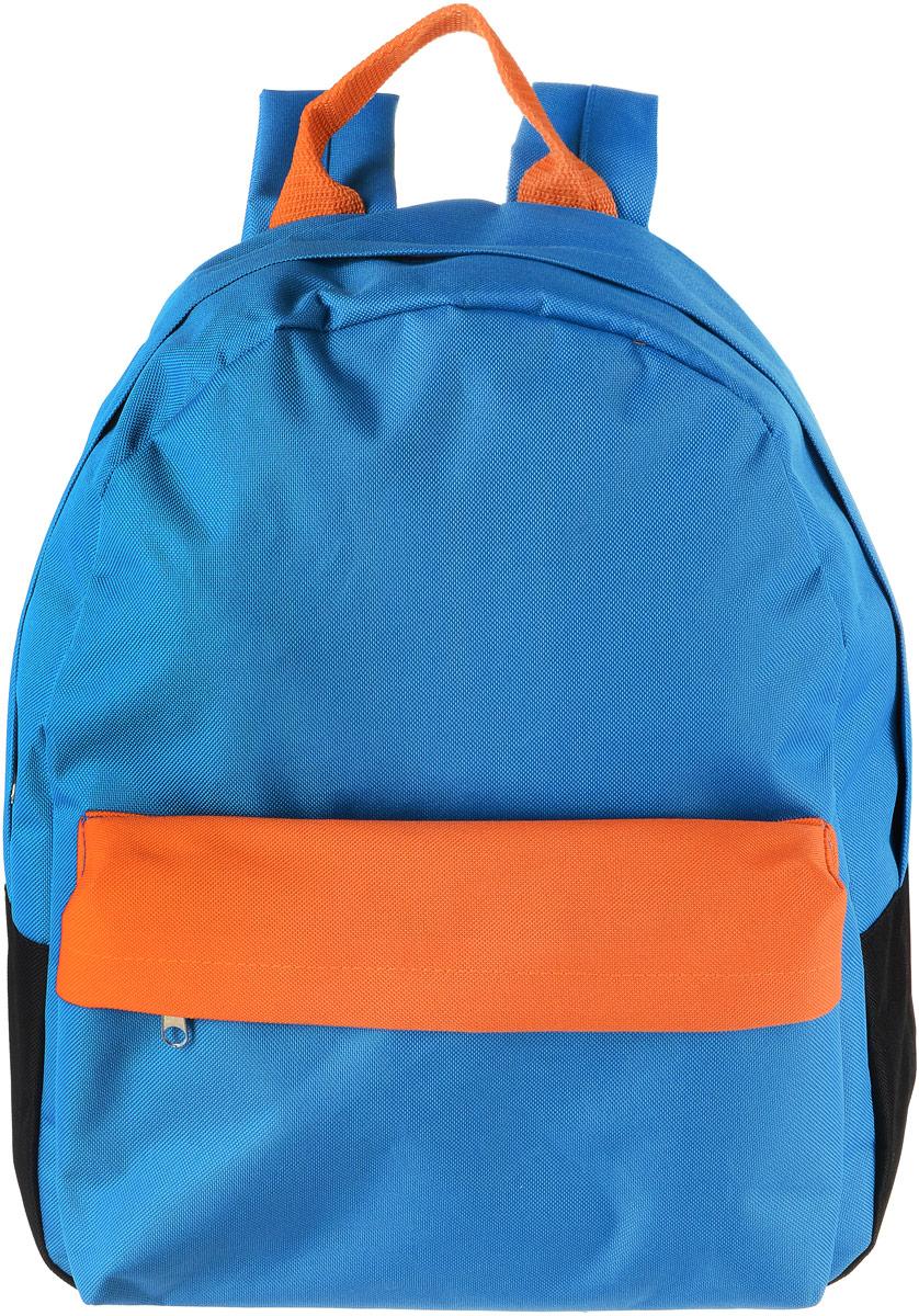 Рюкзак Аntan Ромашка, цвет: голубой. 6-723008Яркий рюкзак Аntan Ромашкавыполнен из высококачественного полиэстера. На лицевой стороне расположен объемный накладной карман на молнии. Рюкзак оснащен удобными лямками, длина которых регулируется с помощью пряжек. Изделие закрывается с помощью застежки-молнии. Внутри расположено главное вместительное отделение, которое содержит отделение для ноутбука.
