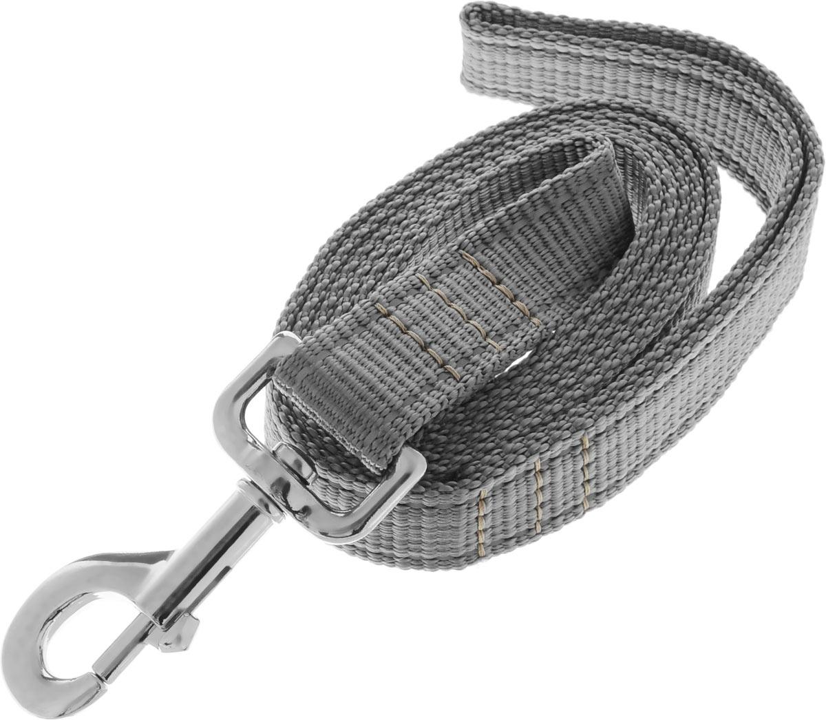Поводок капроновый для собак Аркон, цвет: серый, ширина 2,5 см, длина 1,5 м12171996Поводок для собак Аркон изготовлен из высококачественного цветного капрона и снабжен металлическим карабином. Изделие отличается не только исключительной надежностью и удобством, но и привлекательным современным дизайном.Поводок - необходимый аксессуар для собаки. Ведь в опасных ситуациях именно он способен спасти жизнь вашему любимому питомцу. Иногда нужно ограничивать свободу своего четвероногого друга, чтобы защитить его или себя от неприятностей на прогулке. Длина поводка: 1,5 м.Ширина поводка: 2,5 см.