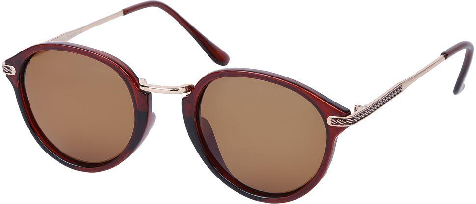 Очки солнцезащитные женские Fabretti, цвет: коричневый. E271673-1PINT-06501Женские солнцезащитные очки от итальянского бренда Fabretti – это изысканный аксессуар, который должен быть у каждой модницы в этом сезоне. Уникальная форма в ретро стиле и дизайнерская оправа из комбинации многослойного пластика и металла превращает модель в невероятно изысканный и яркий аксессуар, который подойдет под любой современный образ. Линзы кофейного цвета , большая степень защиты от ультрафиолетовых лучей, - все это предотвратит усталость глаз, а поляризационное покрытие с легкостью отразит различные блики, с помощью чего очки станут прекрасной находкой для автолюбительниц!