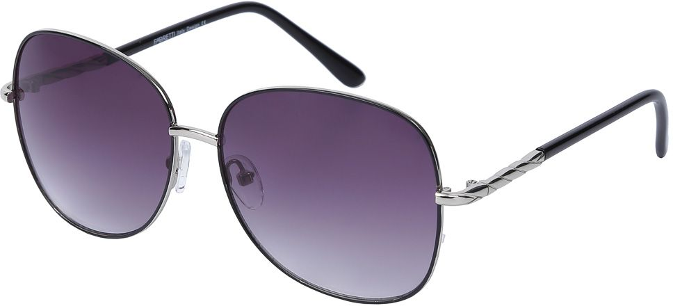 Очки солнцезащитные женские Fabretti, цвет: черный, фиолетовый. E278746-1GBM8434-58AEИзысканные женские очки от итальянского бренда Fabretti призваны для того, чтобы украсить и дополнить ваш элегантный и женственный образ. Классический черный цвет в сочетании с градиентным покрытием линз превращают модель в утонченный аксессуар, наполненный изыском современной итальянской моды. Элегантная овальная форма и дизайнерский орнамент на дужках подойдут к любому цветотипу и форме лица. Прочный многослойный пластик и крепление дужек позволят носить аксессуар и изумлять окружающих на протяжении нескольких сезонов!