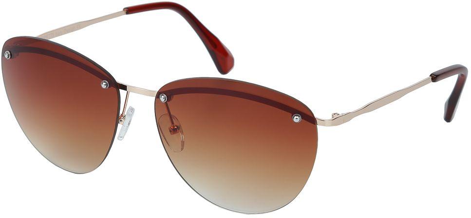 Очки солнцезащитные женские Fabretti, цвет: коричневый, золотистый. E279016-1GBM8434-58AEЖенские очки от итальянского бренда Fabretti призваны для того, чтобы украсить и дополнить ваш женственный образ. Коричневый цвет в сочетании с градиентным покрытием линз превращают модель в утонченный аксессуар, наполненный изыском итальянской моды. Элегантная овальная форма и фурнитура в серебряном цвете подойдут к любому цветотипу и форме лица. Прочный металл и крепление дужек позволят носить аксессуар как на отдыхе, так и за рулем автомобиля.