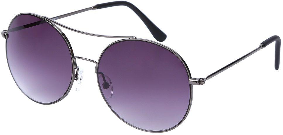 Очки солнцезащитные женские Fabretti, цвет: темно-серый, фиолетовый. E279040-3GINT-06501Женские очки-авиаторы от итальянского бренда Fabretti – это изысканный аксессуар, который должен быть у каждой модницы в этом сезоне. Стильная форма,темные-серые линзы и аккуратные дужки с легкостью подчеркнут ваш яркий вкус и дополнят любой современный образ. Зеркальное напыление, большая степень защиты от ультрафиолетовых лучей превращают очки не только в стильную модель, но и в прочный и удобный аксессуар, который предотвратит усталость глаз.