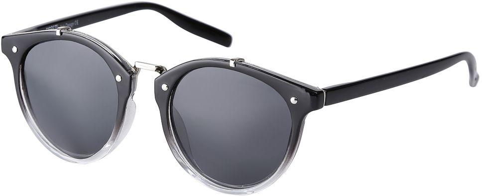 Очки солнцезащитные женские Fabretti, цвет: черный, прозрачный. F3715623-2PINT-06501Дизайнерские женские очки от итальянского бренда Fabretti выполнены из пластика с добавлением прочного металла. Круглая форма оправы, стильный переход черного цвета в стиле омбре превращают модель в яркий и изысканный аксессуар, который дополнит любой современный образ. Аккуратные дужки и фурнитура в серебряном цвете с легкостью подчеркнут ваш изумительный вкус. В комплектации с очками чехол, который можно использовать как салфетку.