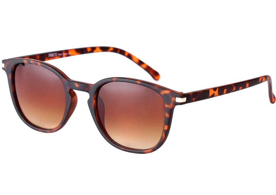 Очки солнцезащитные женские Fabretti, цвет: коричневый. F3715745-2GINT-06501Стильные женские очки от итальянского бренда Fabretti – это настоящий must-have этого сезона. Кофейный цвет оправы, анималистический принт оправы и градиентное покрытие линз, - все это подчеркнет Ваше безупречное чувство стиля. Прочное крепление дужек и фурнитура в золотом цвете призваны для того, чтобы аксессуар был не только ультрамодным, но и очень практичным.