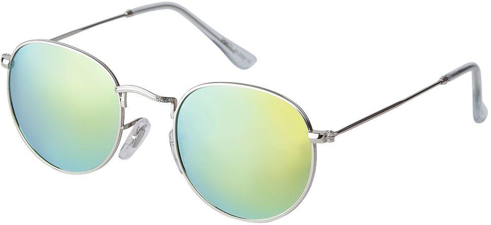 Очки солнцезащитные женские Fabretti, цвет: серебристый, бирюзовый. F37161224-2ZINT-06501Аккуратные женские очки от итальянского бренда Fabretti выполнены из прочного металла. Яркие зеркальные линзы в синем цвете прекрасно дополнят любой весенне-летний образ. Овальная форма, миниатюрные дужки придают модели нотки невероятного изящества. В комплектации с очками чехол, который можно использовать как салфетку.