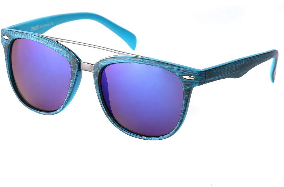 Очки солнцезащитные женские Fabretti, цвет: бирюзовый, сине-фиолетовый. F376090-2ZBM8434-58AEДизайнерские женские очки от итальянского бренда Fabretti выполнены из многослойного пластика с добавлением прочного металла. Изысканный голубой цвет линз и принт под деревянное покрытие придают модели настоящую нотку итальянского шика. Ультрамодная прямоугольная оправа, мягкое градиентное покрытие линз и фурнитура в стальном оттенке с легкостью подчеркнут ваш изумительный вкус.