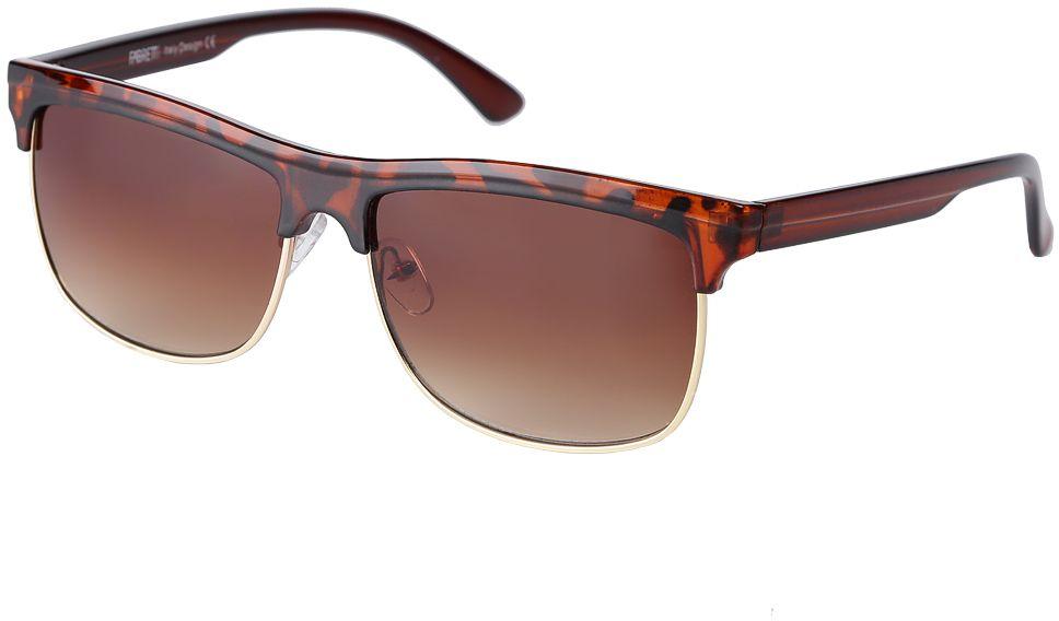 Очки солнцезащитные женские Fabretti, цвет: коричневый. F377111-2GBM8434-58AEЭлегантные женские очки от итальянского бренда Fabretti выполнены из многослойного пластика с добавлением прочного металла. Яркий анималистический принт и коричневый цвет линз придает модели настоящую нотку итальянского шика. Ультрамодная прямоугольная оправа, мягкое градиентное покрытие линз и золотая фурнитура с легкостью подчеркнут ваш изумительный вкус.