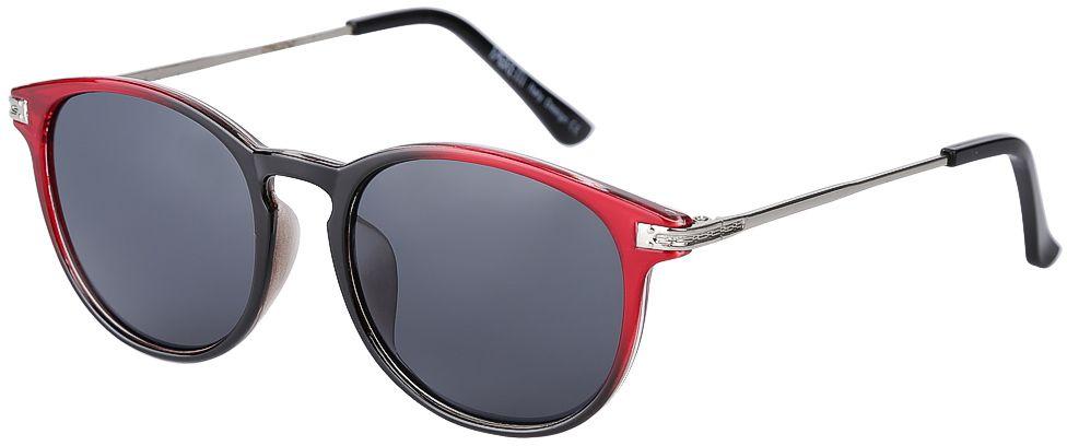 Очки солнцезащитные женские Fabretti, цвет: черный, красный, серебряный. F377388-2BM8434-58AEЭлегантные женские очки от итальянского бренда Fabretti выполнены из пластика с добавлением прочного металла. Изысканная форма оправы и плавный переход из черного в бордовый цвет превращают модель в яркий и изысканный аксессуар, который дополнит любой образ. Аккуратные дужки в серебряном цвете с легкостью подчеркнут ваш изумительный вкус.