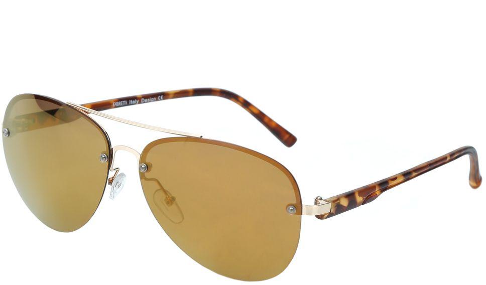 Очки солнцезащитные женские Fabretti, цвет: коричневый. J172460-2PZBM8434-58AEЖенские очки-авиаторы от итальянского бренда Fabretti – это изысканный аксессуар, который должен быть у каждой модницы в этом сезоне. Дизайнерская форма прекрасно подчеркнет ваши скулы, а серебряная фурнитура и стильные коричневые линзы придадут вашему образу яркости и экстравагантности. Поляризационное покрытие, высокая степень защиты от солнечных лучей и надежные крепления помогут приковывать взгляды окружающих протяжении нескольких модных сезонов.