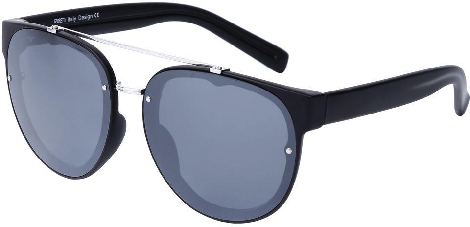 Очки солнцезащитные женские Fabretti, цвет: черный, серебристый. J173388-1PZBM8434-58AEЭлегантные женские очки от итальянского бренда Fabretti соединили в себе элементы «авиатора» и круглой оправы, которая прекрасно подойдет ко всем типам лица. Наши дизайнеры черпали свое вдохновение в модных показах 60-х годов и создали уникальную модель, которая дополнит как классический, так и современный образ. Элегантное сочетание черного и серебряного цвета оправы придаст любому образу нотки итальянского шика, а зеркальные линзы подчеркнут вашу яркость и экстравагантность. Поляризационное покрытие, высокая степень защиты от солнечных лучей и надежное крепление дужек, - все это превращает модель в уникальный аксессуар, который будет украшать вас на протяжении нескольких модных сезонов.