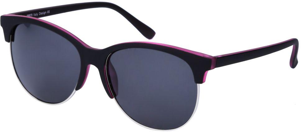 Очки солнцезащитные женские Fabretti, цвет: черный. J173607-3PINT-06501Женские солнцезащитные очки от итальянского бренда Fabretti выполнены из многослойного пластика и прочного металла. Стильная форма превращает модель в невероятно изысканный и яркий аксессуар, который подойдет под любой современный образ.Сочетание зеркальных линз и фиолетового цвета подчеркнут вашу невероятную изысканность. Большая степень защиты от ультрафиолетовых лучей и поляризационное покрытие с легкостью отразят различные блики, с помощью чего очки станут прекрасной находкой для автолюбительниц!
