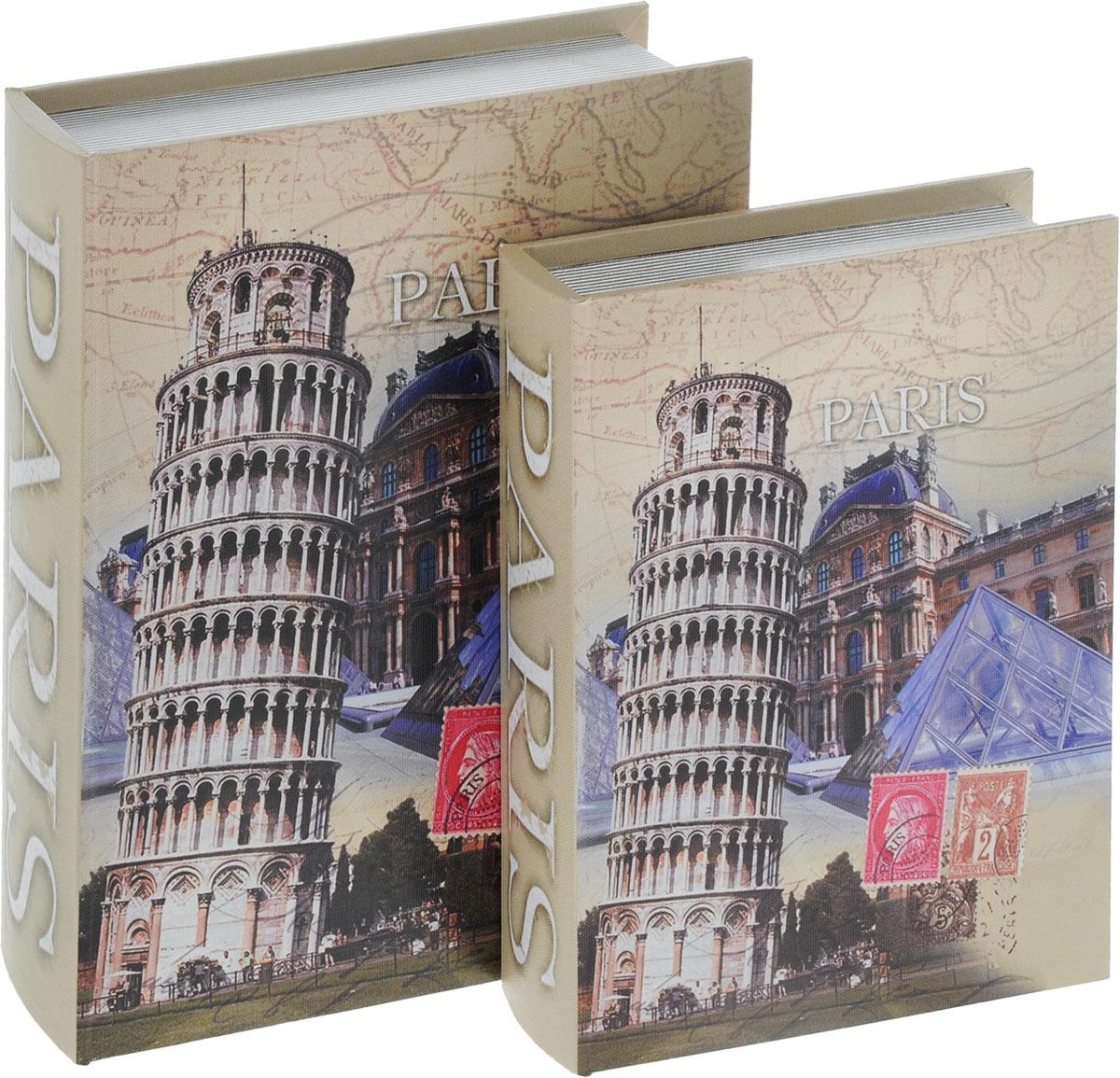 Набор шкатулок для рукоделия Bestex, 2 шт. ZW001253RG-D31SНабор Bestex состоит из двух шкатулок, изготовленных из МДФ и стилизованных под книги. Изделия оформлены оригинальными изображениями. Внутри шкатулки обтянуты тканью. Закрываются шкатулки на магниты. Изящные шкатулки с ярким дизайном предназначены для хранения мелочей, принадлежностей для шитья и творчества и других аксессуаров. Такой набор красиво оформит интерьер комнаты и поможет хранить ваши вещи в порядке. Размер маленькой шкатулки: 19 х 27 х 5 см.Размер большой шкатулки: 24 х 32 х 7 см.