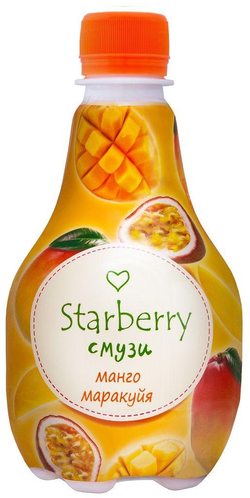 Starberry смузи манго, маракуйя, 0,375 л101246Смузи на основе 100% натурального сока - понравится любителям необычных вкусовых сочетаний. Ощутить сладкую тропическую свежесть и притягательную силу сочных фруктов – легко. Просто попробуйте Starberry смузи и испытайте истинное удовольствие!