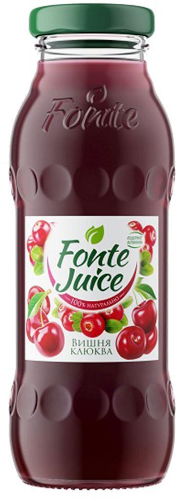 Fonte juice Нектар вишня, клюква, 0,2 л4607050696700Сочетание морозной свежести клюквы и бархатистого вкуса ягод вишни делает этот микс по-настоящему уникальным. Его насыщенный ягодный вкус мгновенно освежает и придает тебе уверенность. Источник твоего настроения!Рекомендовано к употреблению с 5 лет.