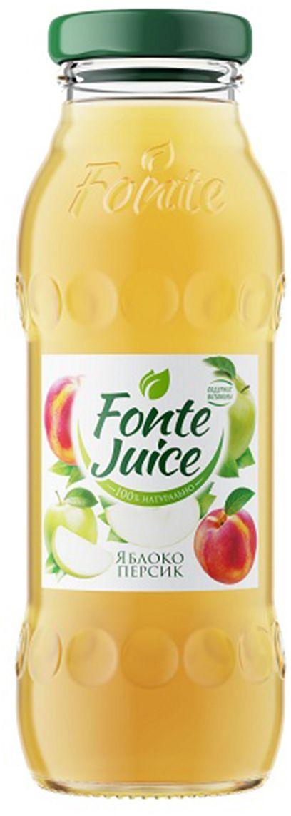 Fonte juice Нектар яблоко, персик, 0,2 л0120710Сочный вкус и свежий аромат спелых зеленых яблок напоминают о раннем летнем утре, а легкие персиковые нотки дарят сладкое послевкусие, смягчая яблочную прохладу. Источник твоей легкости!Рекомендовано к употреблению с 5 лет.