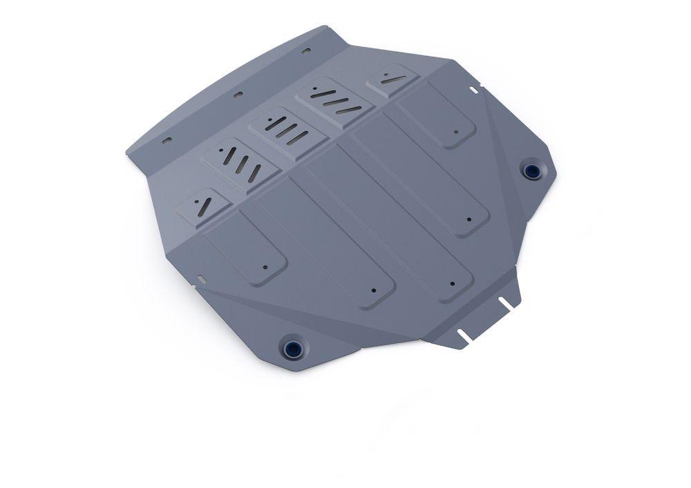 Защита картера и КПП Rival, для ACURA MDX, алюминий 4 мм1004900000360Защита картера и КПП для ACURA MDX, V - 3,5 2014-2015, крепеж в комплекте, алюминий 4 мм, Rival Алюминиевые защиты картера Rival надежно защищают днище вашего автомобиля от повреждений, например при наезде на бордюры, а также выполняют эстетическую функцию при установке на высокие автомобили. - Толщина алюминиевых защит в 2 раза толще стальных, а вес при этом меньше до 30%. - Отлично отводит тепло от двигателя своей поверхностью, что спасает двигатель от перегрева в летний период или при высоких нагрузках. - В отличие от стальных, алюминиевые защиты не поддаются коррозии, что гарантирует срок службы защит более 5 лет. - Покрываются порошковой краской, что надолго сохраняет первоначальный вид новой защиты и защищает от гальванической коррозии. - Глубокий штамп дополнительно усиливает конструкцию защиты. - Подштамповка в местах крепления защищает крепеж от срезания. - Технологические отверстия там, где они необходимы для смены масла и слива воды, оборудованные заглушками, надежно закрепленными на защите. Уважаемые клиенты! Обращаем ваше внимание, на тот факт, что защита имеет форму, соответствующую модели данного автомобиля. Фото служит для визуального восприятия товара.