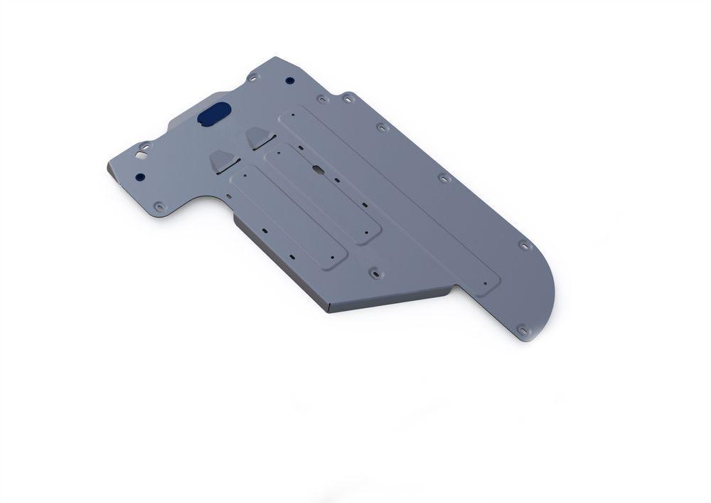 Защита КПП Rival, для BMW 5, алюминий 4 мм1004900000360Защита КПП для BMW 5, 2WD 520i520d 2010-, крепеж в комплекте, алюминий 4 мм, Rival Алюминиевые защиты картера Rival надежно защищают днище вашего автомобиля от повреждений, например при наезде на бордюры, а также выполняют эстетическую функцию при установке на высокие автомобили. - Толщина алюминиевых защит в 2 раза толще стальных, а вес при этом меньше до 30%. - Отлично отводит тепло от двигателя своей поверхностью, что спасает двигатель от перегрева в летний период или при высоких нагрузках. - В отличие от стальных, алюминиевые защиты не поддаются коррозии, что гарантирует срок службы защит более 5 лет. - Покрываются порошковой краской, что надолго сохраняет первоначальный вид новой защиты и защищает от гальванической коррозии. - Глубокий штамп дополнительно усиливает конструкцию защиты. - Подштамповка в местах крепления защищает крепеж от срезания. - Технологические отверстия там, где они необходимы для смены масла и слива воды, оборудованные заглушками, надежно закрепленными на защите. Уважаемые клиенты! Обращаем ваше внимание, на тот факт, что защита имеет форму, соответствующую модели данного автомобиля. Фото служит для визуального восприятия товара.