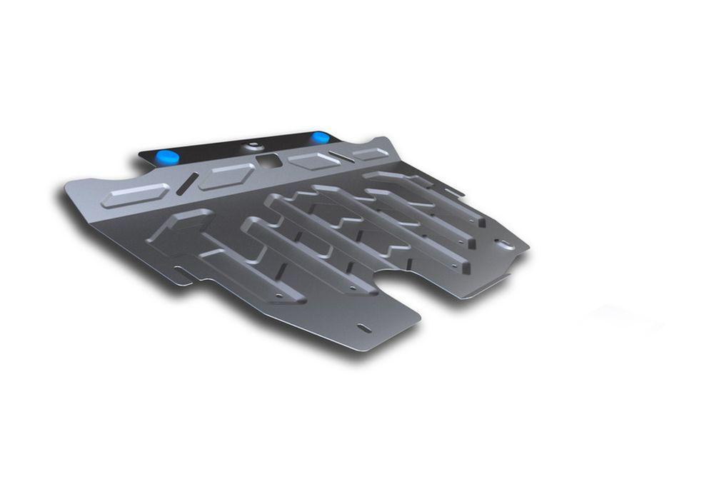 Защита картера и КПП Rival, для Ford Galaxy, алюминий 3 мм1004900000360Защита картера и КПП для Ford Galaxy , V - 2,0, 2,2, 2,3 2006-, крепеж в комплекте, алюминий 3 мм, Rival Алюминиевые защиты картера Rival надежно защищают днище вашего автомобиля от повреждений, например при наезде на бордюры, а также выполняют эстетическую функцию при установке на высокие автомобили. - Толщина алюминиевых защит в 2 раза толще стальных, а вес при этом меньше до 30%. - Отлично отводит тепло от двигателя своей поверхностью, что спасает двигатель от перегрева в летний период или при высоких нагрузках. - В отличие от стальных, алюминиевые защиты не поддаются коррозии, что гарантирует срок службы защит более 5 лет. - Покрываются порошковой краской, что надолго сохраняет первоначальный вид новой защиты и защищает от гальванической коррозии. - Глубокий штамп дополнительно усиливает конструкцию защиты. - Подштамповка в местах крепления защищает крепеж от срезания. - Технологические отверстия там, где они необходимы для смены масла и слива воды, оборудованные заглушками, надежно закрепленными на защите. Уважаемые клиенты! Обращаем ваше внимание, на тот факт, что защита имеет форму, соответствующую модели данного автомобиля. Фото служит для визуального восприятия товара.