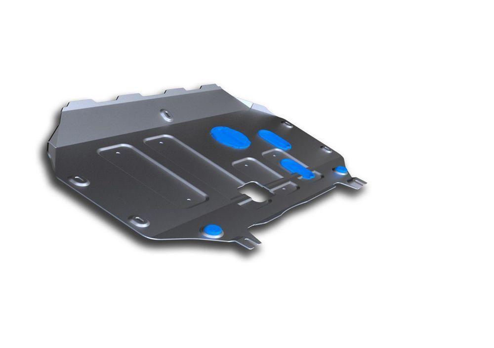 Защита картера и КПП Rival, для Hyundai Creta, алюминий 3 ммK100Защита картера и КПП для Hyundai Creta, V - 1,6; 2,0 2016-, крепеж в комплекте, алюминий 3 мм, Rival Алюминиевые защиты картера Rival надежно защищают днище вашего автомобиля от повреждений, например при наезде на бордюры, а также выполняют эстетическую функцию при установке на высокие автомобили. - Толщина алюминиевых защит в 2 раза толще стальных, а вес при этом меньше до 30%. - Отлично отводит тепло от двигателя своей поверхностью, что спасает двигатель от перегрева в летний период или при высоких нагрузках. - В отличие от стальных, алюминиевые защиты не поддаются коррозии, что гарантирует срок службы защит более 5 лет. - Покрываются порошковой краской, что надолго сохраняет первоначальный вид новой защиты и защищает от гальванической коррозии. - Глубокий штамп дополнительно усиливает конструкцию защиты. - Подштамповка в местах крепления защищает крепеж от срезания. - Технологические отверстия там, где они необходимы для смены масла и слива воды, оборудованные заглушками, надежно закрепленными на защите. Уважаемые клиенты! Обращаем ваше внимание, на тот факт, что защита имеет форму, соответствующую модели данного автомобиля. Фото служит для визуального восприятия товара.