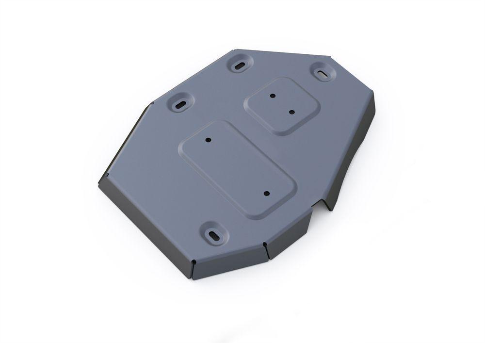 Защита редуктора Rival, для Jeep Cherokee, алюминий 4 мм1004900000360Защита редуктора для Jeep Cherokee АКПП, 4WD, V - 2,4, 3,2 2014-, крепеж в комплекте, алюминий 4 мм, Rival Алюминиевые защиты картера Rival надежно защищают днище вашего автомобиля от повреждений, например при наезде на бордюры, а также выполняют эстетическую функцию при установке на высокие автомобили. - Толщина алюминиевых защит в 2 раза толще стальных, а вес при этом меньше до 30%. - Отлично отводит тепло от двигателя своей поверхностью, что спасает двигатель от перегрева в летний период или при высоких нагрузках. - В отличие от стальных, алюминиевые защиты не поддаются коррозии, что гарантирует срок службы защит более 5 лет. - Покрываются порошковой краской, что надолго сохраняет первоначальный вид новой защиты и защищает от гальванической коррозии. - Глубокий штамп дополнительно усиливает конструкцию защиты. - Подштамповка в местах крепления защищает крепеж от срезания. - Технологические отверстия там, где они необходимы для смены масла и слива воды, оборудованные заглушками, надежно закрепленными на защите. Уважаемые клиенты! Обращаем ваше внимание, на тот факт, что защита имеет форму, соответствующую модели данного автомобиля. Фото служит для визуального восприятия товара.