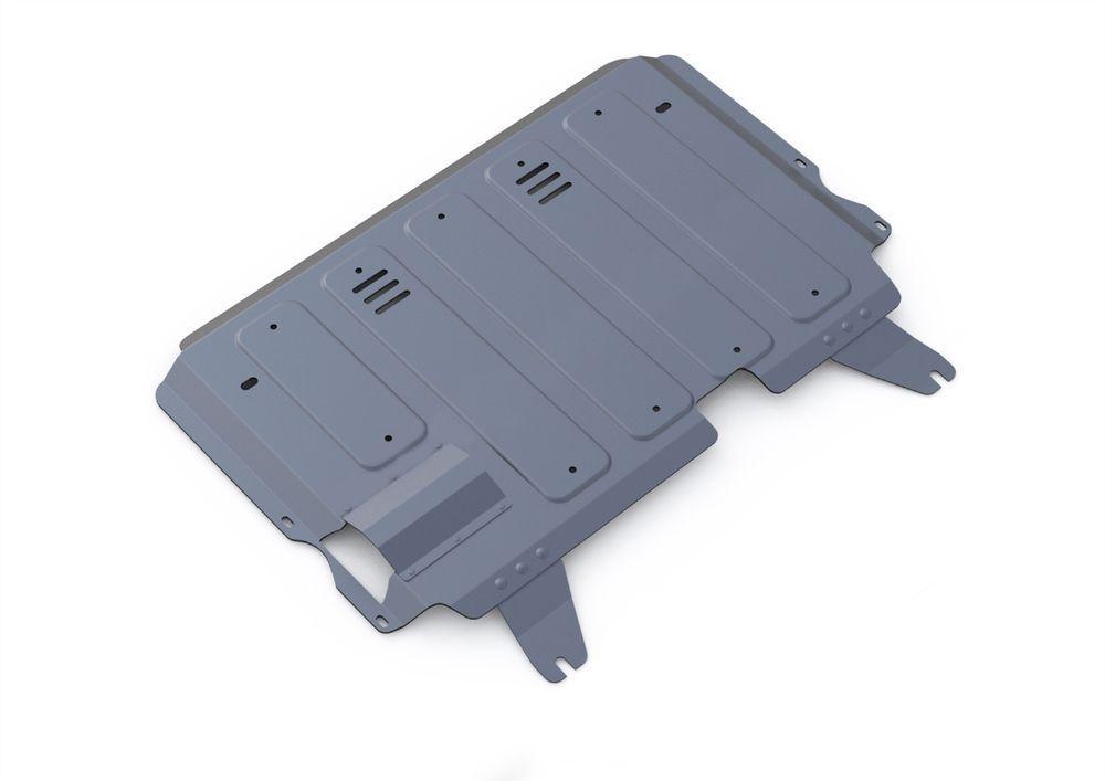 Защита картера и КПП Rival, для Mazda 3, алюминий 4 мм1004900000360Защита картера и КПП для Mazda 3 , V - 1,6; 2,0 2009-2013, крепеж в комплекте, алюминий 4 мм, Rival Алюминиевые защиты картера Rival надежно защищают днище вашего автомобиля от повреждений, например при наезде на бордюры, а также выполняют эстетическую функцию при установке на высокие автомобили. - Толщина алюминиевых защит в 2 раза толще стальных, а вес при этом меньше до 30%. - Отлично отводит тепло от двигателя своей поверхностью, что спасает двигатель от перегрева в летний период или при высоких нагрузках. - В отличие от стальных, алюминиевые защиты не поддаются коррозии, что гарантирует срок службы защит более 5 лет. - Покрываются порошковой краской, что надолго сохраняет первоначальный вид новой защиты и защищает от гальванической коррозии. - Глубокий штамп дополнительно усиливает конструкцию защиты. - Подштамповка в местах крепления защищает крепеж от срезания. - Технологические отверстия там, где они необходимы для смены масла и слива воды, оборудованные заглушками, надежно закрепленными на защите. Уважаемые клиенты! Обращаем ваше внимание, на тот факт, что защита имеет форму, соответствующую модели данного автомобиля. Фото служит для визуального восприятия товара.