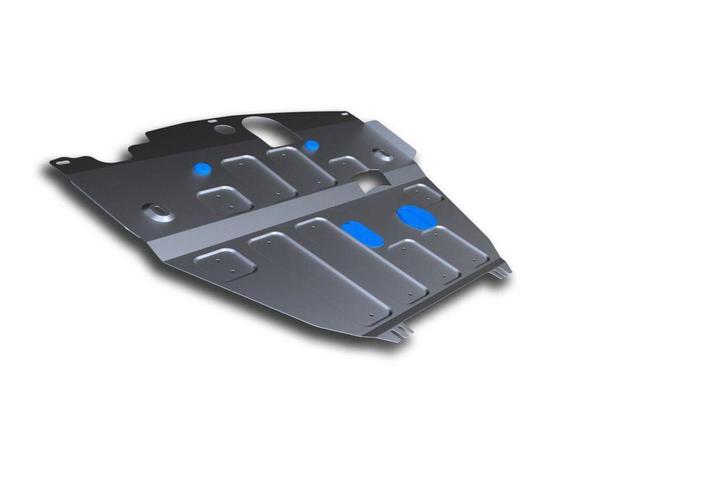 Защита картера и КПП Rival, для Chevrolet Captiva, алюминий 4 мм. 333.4208.1CA-3505Защита картера и КПП для Chevrolet Captiva , V - 2,2D, 2,4i, 3,0i 2012-2015, крепеж в комплекте, алюминий 4 мм, Rival Алюминиевые защиты картера Rival надежно защищают днище вашего автомобиля от повреждений, например при наезде на бордюры, а также выполняют эстетическую функцию при установке на высокие автомобили. - Толщина алюминиевых защит в 2 раза толще стальных, а вес при этом меньше до 30%. - Отлично отводит тепло от двигателя своей поверхностью, что спасает двигатель от перегрева в летний период или при высоких нагрузках. - В отличие от стальных, алюминиевые защиты не поддаются коррозии, что гарантирует срок службы защит более 5 лет. - Покрываются порошковой краской, что надолго сохраняет первоначальный вид новой защиты и защищает от гальванической коррозии. - Глубокий штамп дополнительно усиливает конструкцию защиты. - Подштамповка в местах крепления защищает крепеж от срезания. - Технологические отверстия там, где они необходимы для смены масла и слива воды, оборудованные заглушками, надежно закрепленными на защите. Уважаемые клиенты! Обращаем ваше внимание, на тот факт, что защита имеет форму, соответствующую модели данного автомобиля. Фото служит для визуального восприятия товара.