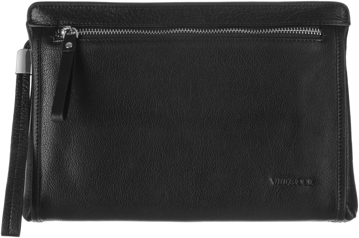 Сумка мужская Vitacci, цвет: черный. XY009A-B86-05-CМужская сумка Vitacci выполнена из натуральной кожи. Модель предназначена для хранения мелких вещей и документов. Сумка имеет одно отделение которое закрывается на застежку-молнию. Внутри содержатся прорезной карман на молнии, накладной карман и шесть карманов для пластиковых карт. Сумка оснащена съемным ремешком для запястья.