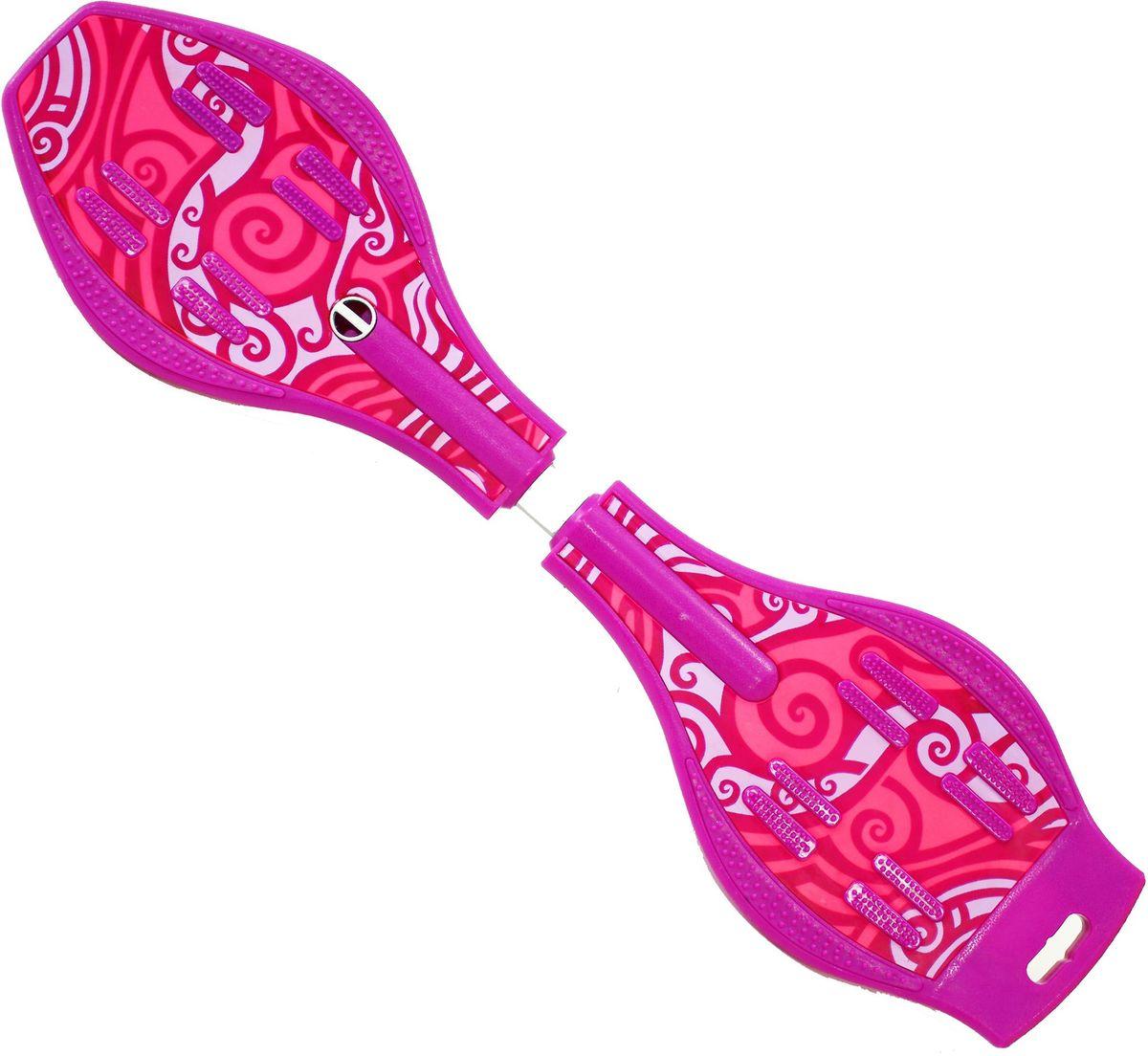 Роллерсерф Dragon Board Totem, цвет: фуксия, розовыйво2226Роллерсерф Dragon Board Totem - это уникальный скейтборд на двух колесах. Полиуретановые колеса на высокоскоростных подшипниках позволяют быстро разогнаться и катиться долгое время без остановок. Подшипники крутятся легко и без усилий. Колеса скейтборда выполнены из прочного полиуретана и вращаются на 360°. Легкая и прочная пластиковая платформа со специальным противоскользящим покрытием состоит из двух частей, прочно соединенных торсионной пружиной. Выдерживает вес: до 70 кг.