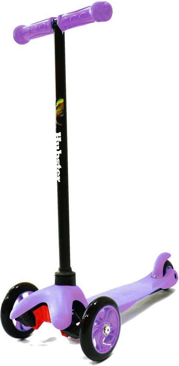 Самокат трехколесный Hubster Mini, цвет: фиолетовыйKBO-1014Яркий и веселый самокат создан для активных развлечений на свежем воздухе. Он очень полезен для развития детского организма, благодаря ему малыш становится более крепким, ловким и выносливым.Самокат очень прост в использовании, наклоняя рулевую стойку в ту или иную сторону, колеса автоматически поворачиваются в ту же сторону, поэтому ребенок освоит самокат достаточно быстро.Широкая платформа выполнена из легкого и прочного пластика, имеет рифленую антискользящую поверхность, благодаря чему ножка малыша не соскользнет во время катания, а грамотно продуманный размер позволит уместить одновременно две ноги.Колеса выполнены из высококачественного полиуретана с нейлоновым наполнителем.Быструю и бесшумную езду обеспечит высокоточный подшипник ABEC 7, который также без труда справится с любым бездорожьем.Алюминиевая ручка меняется по высоте в 3-х разных положениях, максимальная длина 64 см, благодаря этому самокат будет расти вместе с вашим малышом.Ребристые ручки с ограничителями по краям выполнены из прорезиненного материала.Высота руля от пола мин/макс: 64 см. Ширина руля: 25 см. Ширина деки: 11 см. Длина деки: 36 см. Размер колес: 120 мм. Максимальная нагрузка: 25 кг. Подшипники: ABEC7. Вес: 1,6 кг.
