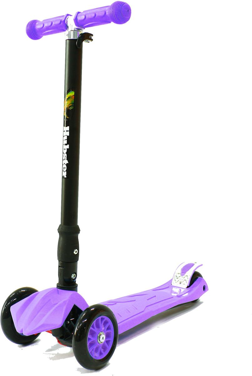 Самокат трехколесный Hubster Maxi Plus, цвет: фиолетовыйво2260Детский самокат Hubster Maxi Plus имеет наклонный поворотный механизм руля, надежную систему сборки и разборки изделия, регулируемый по высоте руль и раму, изготовленную из суперлегкого алюминия.Подходит для мальчиков и девочек. Складная конструкция. Диаметр переднего колеса: 125 мм.Диаметр заднего колеса: 80 мм.Толщина: 24 мм. Максимальная нагрузка: 50 кг. Материал колес: полиуретан. Высота руля: 65-88 см. Вес: 2,5 кг.