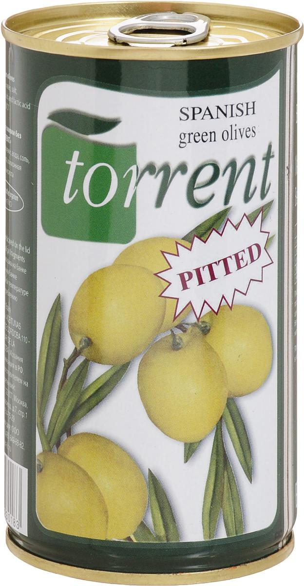 Torrent оливки испанские без косточки, 350 г0120710Зеленые испанские оливки Torrent очищены от косточек. Отличаются освежающим вкусом с терпкими нотками.Рекомендуется употреблять как самостоятельную закуску или добавлять в салаты и горячие блюда.