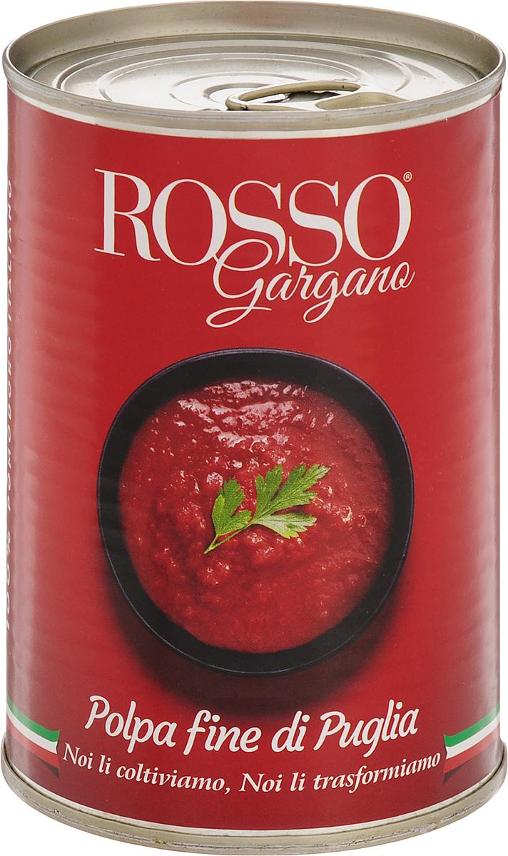Rosso Gargano томаты очищенные давленные в собственном соку, 400 г0120710Томаты очищенные давленные в собственном соку Rosso Gargano идеально подходят для приготовления разнообразных блюд из макаронных изделий, горячих бутербродов, пиццы, итальянской брускетты и лазаньи.