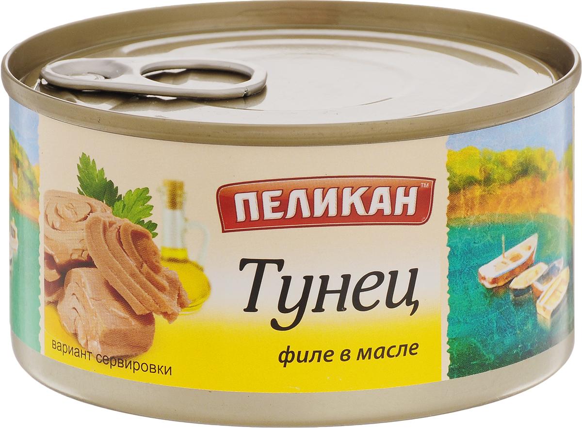 Пеликан тунец филе в масле, 185 г