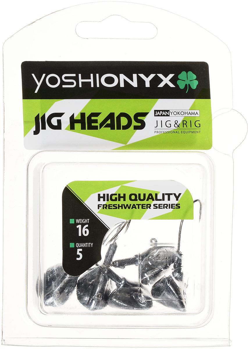 Джиг-головка Yoshi Onyx JIG Bros. Каблучок, крючок Gamakatsu, 16 г, 5 шт1903715Джиг-головки Yoshi Onyx JIG Bros. Каблучок используются для огрузки спиннинговых приманок. Специально предназначены для ловли щуки на мягкие приманки на небольшой глубине рядом с водной растительностью. Благодаря особой форме, увеличивается маневренность и управляемость. Джиг-головки оснащены крючком Gamakatsu.Несмотря на кажущуюся простоту этих грузил, от правильного подбора во многом зависит клев хищника. Выбирайте джиговую головку в зависимости от предполагаемого места ловли и используемой с ней приманки, возможной глубины, скорости течения, ветра и прочего.