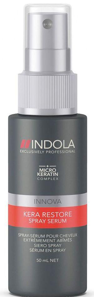 Indola Сыворотка-спрей Кератиновое Восстановление Kera Restore Serum 50 млFS-00897Индола Сыворотка спрей Кератиновое Восстановление. Быстро восстанавливает сильно поврежденные волосы благодаря формуле с кератином запечатывает кутикулу, придает упругость и силу. Для сильно поврежденных волос. Рекомендуется использовать в комплексе с шампунем INDOLA Kera Restore