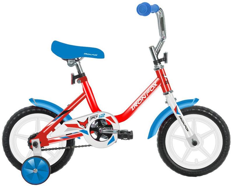 Велосипед детский Iron Fox Fly 12, цвет: красный342902Рама: сталь Вилка: жесткая, сталь Количество скоростей: 1 Размер колес: 12 Резина: полимерные 12*1,5 Обода: пластиковые Тормоза: втулочные, ножные Дополнительное оборудование: отражатели, дополнительные колеса, крылья (пластик)