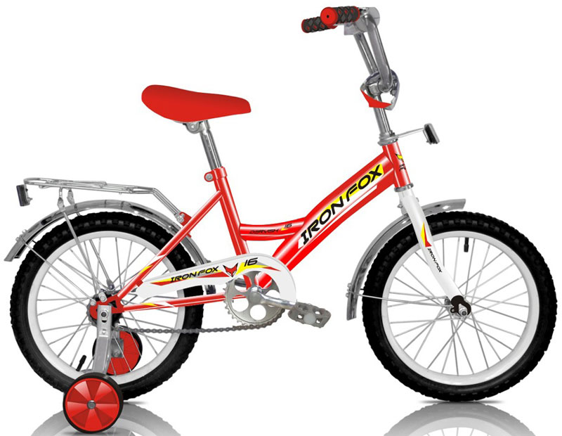 Велосипед детский Iron Fox Derby 16, цвет: красныйMHDR2G/AРама: сталь Вилка: жесткая, сталь Количество скоростей: 1 Размер колес: 16 Резина: 16*2,125 Обода: cталь, 16 Тормоза: втулочные, ножные Дополнительное оборудование: отражатели, дополнительные колеса, крылья (стальные), багажник