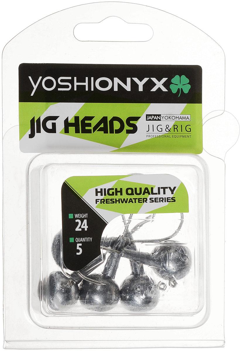 Джиг-головка Yoshi Onyx JIG Bros. Шар 1, крючок Gamakatsu, 24 г, 5 шт010-01199-23Джиг-головки Yoshi Onyx JIG Bros. Шар 1 предназначены для огрузки спиннинговых приманок. Форма шар является одной из самых популярных в джиговых оснастках из-за ее универсальности. Шары с успехом применяются практически на всех водоемах. Джиг-головки оснащены крючком Gamakatsu. Такой крючок прекрасно пробивает жесткую пасть крупного судака, щуки и сома. Несмотря на кажущуюся простоту этих грузил, от правильного подбора во многом зависит клев хищника. Выбирайте джиговую головку в зависимости от предполагаемого места ловли и используемой с ней приманки, возможной глубины, скорости течения, ветра и прочего.