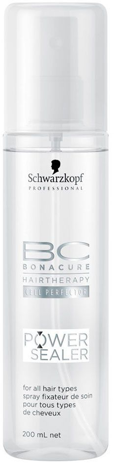 Bonacure Запечатывающий Спрей для поверхности волос Power Sealer 200 мл1800482Спрей для придания волосам блеска. На основе масла семян абрикоса распределяется на поверхности волос закрепляя систему ухода и обеспечивая защиту. Для всех типов волос