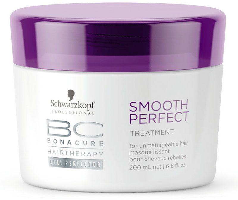 Bonacure Идеальная Гладкость Маска Smooth Perfect Treatment 200 млC5639700Интесивная разглаживающая и питающая маска для непослушных, электризующихся и грубых волос. нуждающихся в интенсивном разглаживании и контроле. Комбинация высококонцентрированных катионных полимеров и силиконовых масел эффективно разглаживает поверхность волос. Непослушные волосы обретают гладкость и блеск. Для достижения максимального результата рекомендуется использовать в комплексе с шампунем BC Smooth Perfect