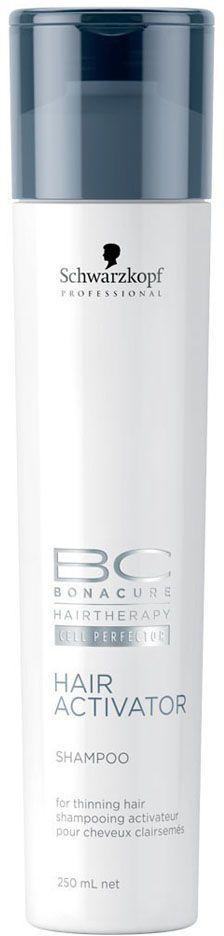 Bonacure Шампунь, активизирующий рост волос Hair Activator Shampoo 250 млFS-54114Активизирующий шампунь для редеющих волос. Комбинция активных веществ мягко очищает волосы и кожу головы. Пантенол балансирует содержание влаги в волосах и коже головы. Для достижения максимального результата рекомендуется использовать в комплексе с сывороткой и тоником BC Hair Activator