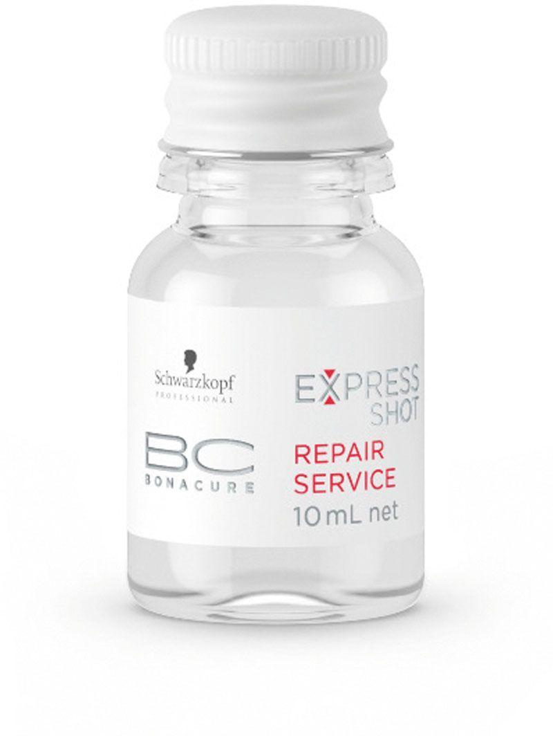Bonacure Восстанавливающий Экспресс-Сервис Repair Service Express Shots 8х10 млFS-00897Средство для интенсивного питания волос. Высококонцентрированный комплекс клеточного восстановления, основанный на аминокислотах и протеолипидах, обеспечивает глубокое питание при добавлении в любой другой продукт из линейки уходов Bonacure, имеющий кремовую консестенцию. Усиливает результат ухода как изнутри , так и на поверхности каждого волоса.