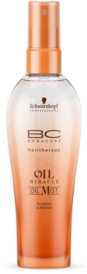 Bonacure Спрей-масло для жестких волос Oil Miraclre Oil Mist thick hair 100 млFS-00897Спрей масло для жестких волос. Насыщенная формула с драгоценным аргановым маслом интенсивно питает волосы, состав быстро распределяется по полотну, обеспечивая гладкость и эластичность, а затем моментально испаряется. Рекомендуется использовать в комплексе с шампунем для жестких волос BC Oil Miracle.