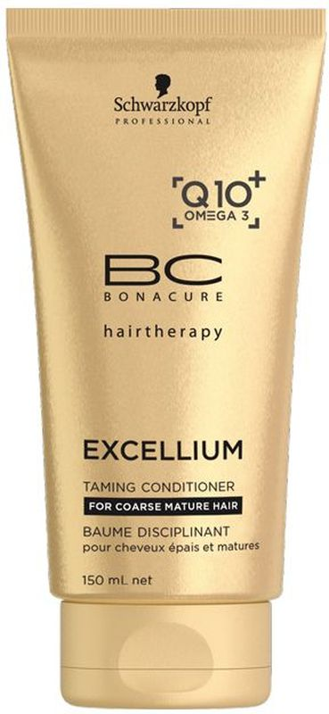 Bonacure Смягчающий кондиционер Excellium Taming Conditioner 150 млFS-00897Смягчающий кондиционер BC Excellium - это обогащенный кондиционер для сухих и ломких зрелых волос. Омолаживает, восстанавливает жизненную силу и предоствращает потерю цвета. Увляжняет и смягчает волосы, делая их более послушными. Катионные ингредиенты и специальные ухаживающие агенты заполняют структурные разрывы и разглаживают внешнюю поверхность волос, при этом не перегружая их